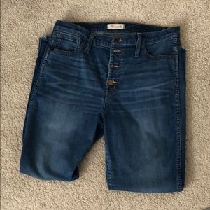 """Madewell Jeans - 10"""" high rise skinny jeans"""